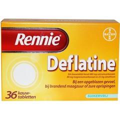 Rennie Rennie deflatine (36 tabletten)