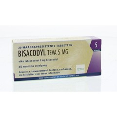 Teva Bisacodyl 5 mg (20 tabletten)