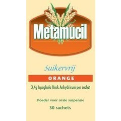 Metamucil Orange suikervrij (30 sachets)