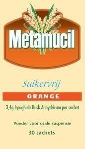 Metamucil Metamucil Orange suikervrij (30 sachets)
