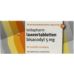 Leidapharm Bisacodyl laxeer 5 mg UAD (30 tabletten)
