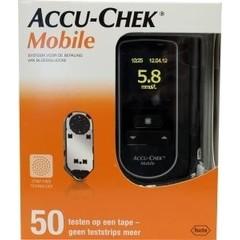 Accu Chek Mobile en 50 testen op tape (1 stuks)