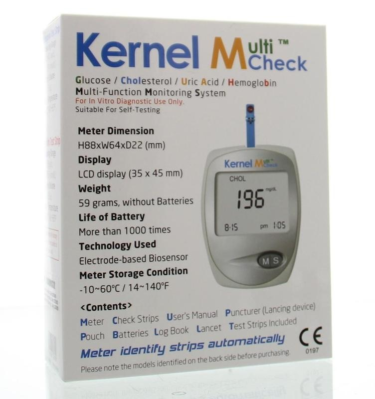 Kernel Kernel Multicheck plus meter HB Glucose Cholesterol (1 stuks)