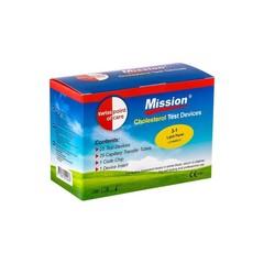 Mission 3-IN-1 Cholesterolmeter 3-in-1 (25 strips&25 capillairen) (1 set)