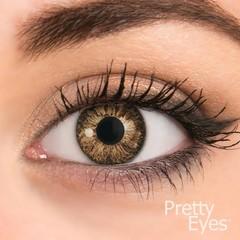 Pretty Eyes 1-Dag kleurlens 2P hazelbruin (2 stuks)