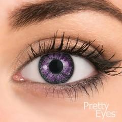 Pretty Eyes 1-Maand kleurlens 2P violet (2 stuks)