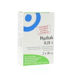 Hyabak Oogdruppels duopack (2 stuks)