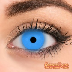 Kawaeyes Crazy lenzen fluo blue (2 stuks)
