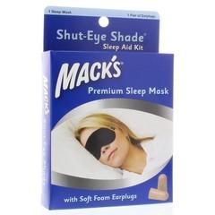 Macks Shut eye shade sleep mask (1 stuks)