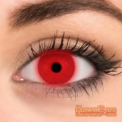 Kawaeyes Jaarlenzen fluor red (2 stuks)