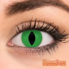 Kawaeyes Jaarlenzen demon green (1 paar)