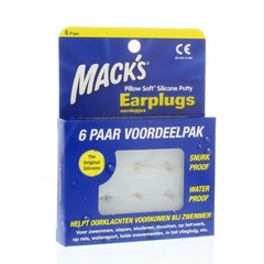 Macks Earplugs (6 paar)