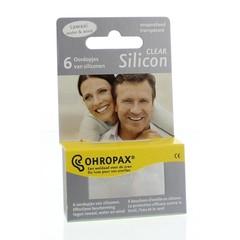 Ohropax Silicon clear (6 stuks)