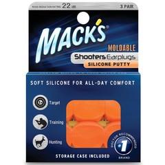 Macks Shooters moldable earplugs orange (3 paar)