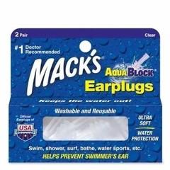 Macks Aquablock clear (2 paar)
