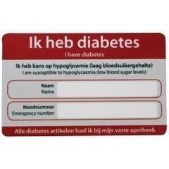 Zorgtotaal Diabetes noodkaart (10 stuks)