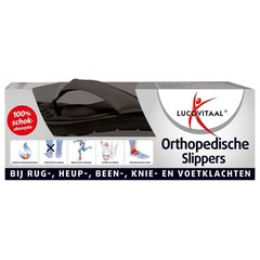 Lucovitaal Orthopedische slippers 37-38 zwart (1 paar)