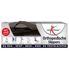 Lucovitaal Orthopedische slippers 45-46 zwart (1 paar)