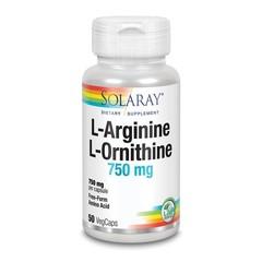 Solaray L-Arginine L-Ornithine 750 mg (50 vcaps)