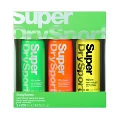 Superdry Sport Body series - Trio body sprays (1 set)