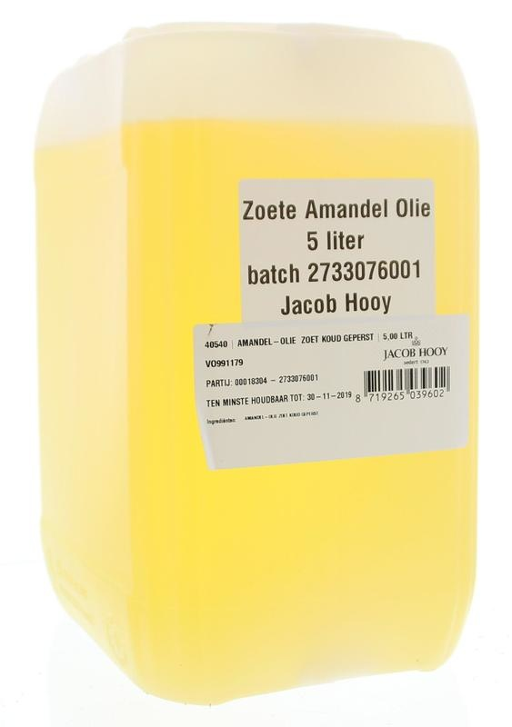 Jacob Hooy Jacob Hooy Amandelolie zoet (5 liter)