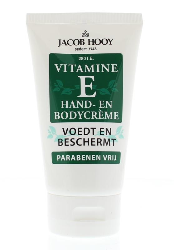 Jacob Hooy Jacob Hooy Vitamine E hand en bodycreme tube (150 ml)