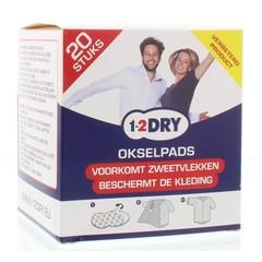 1-2DRY Okselpads medium wit (20 stuks)