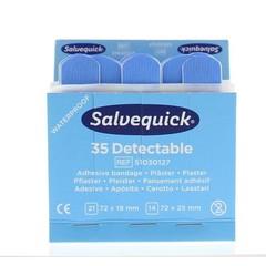 Salvequick Pleister blauw 6735 (35 stuks)