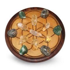 Green Tree Half edelsteen set raster voor geluk & voorspoed (1 stuks)