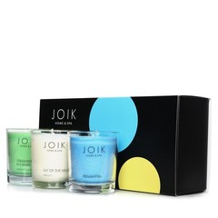 Joik Spring scents candle trio giftset vegan (3x80 gram)