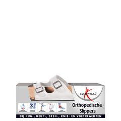 Lucovitaal Traagschuim slipper wit maat 45 (1 paar)