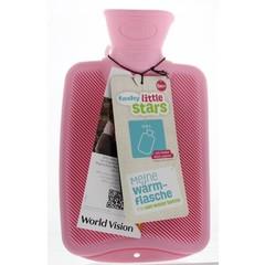 Fashy Kruik warmwaterzak half roze (800 ml)