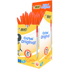 BIC Cristal pennen rood doos (50 stuks)