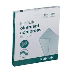 Klinion Klinitulle zalfkompres 10 x 10 (10 stuks)
