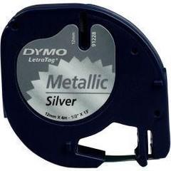 Dymo Letratag tape zilver metallic (1 stuks)