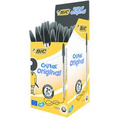 BIC Cristal pennen zwart doos (50 stuks)