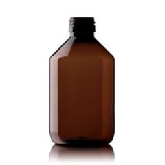 Blockland Medicijnfles pet bruin ongedopt 300 ml (25 stuks)