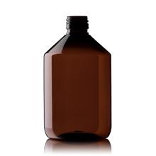 Blockland Blockland Medicijnfles pet bruin ongedopt 500 ml (16 stuks)