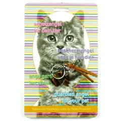 Steengoed Beschermengel huisdier kat tijgeroog (1 stuks)