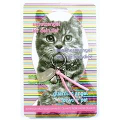 Steengoed Beschermengel huisdier kat roze kwarts (1 stuks)