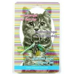 Steengoed Beschermengel huisdier kat turkoois (1 stuks)