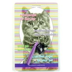 Steengoed Beschermengel huisdier kat amethist (1 stuks)