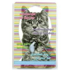 Steengoed Beschermengel huisdier kat chalcedoon (1 stuks)