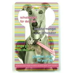 Steengoed Beschermengel huisdier hond roze kwarts (1 stuks)