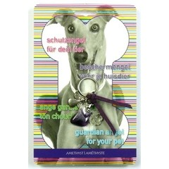 Steengoed Beschermengel huisdier hond amethist (1 stuks)