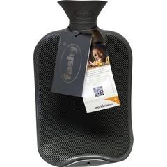 Fashy Kruik warmwater zak antraciet dubbele ribbel (2 liter)