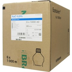 Braun Medical Spoelvloeistof nacl 0.9% ecotainer 1000 ml (6 stuks)