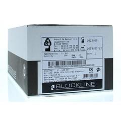 Blockline Spuit helder 1 ml zonder tip cap (100 stuks)