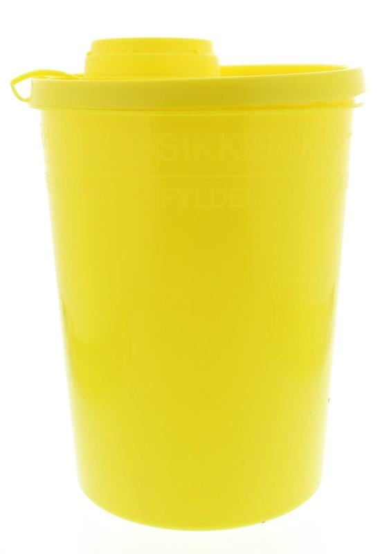 Blockland Blockland Naaldencontainer large geel (2 liter)