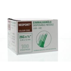 Neopoint Injectienaald steriel 0.45 x 12 mm (100 stuks)